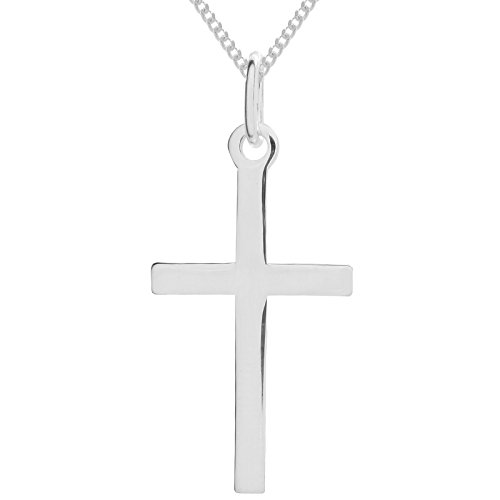 925-sterling-silver-polished-plain-cross-pendant-29mm-x-16mm-curb-chain-necklace-16-to-30-inches-wit
