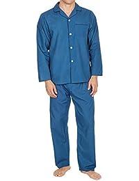 337426589 Mens Insignia Plain Poly Cotton Pyjamas Set Traditional Classic Cut