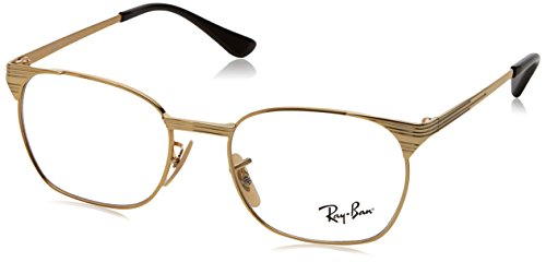 Ray-Ban Unisex-Kinder Brillengestell RY1051, goldfarbend/transparent, 5