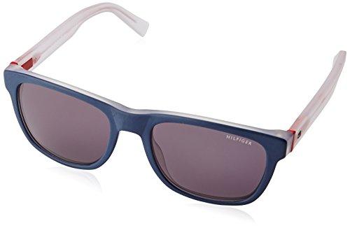 Tommy Hilfiger Unisex-Erwachsene Sonnenbrille TH 1360/S Y1 Schwarz (Bluee Crystal Red), 53 Preisvergleich