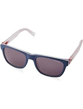 Tommy Hilfiger Unisex-Erwachsene Sonnenbrille TH 1360/S Y1, Schwarz (Bluee Crystal Red), 53