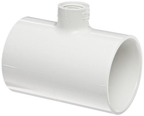 Spears PVC-Rohr Fitting, Tee, Schedule 40, weiß, Sockel X NPT Buchse, 2