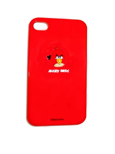 Angry Birds Premium Hardcase / Cover / Case / Hülle für Apple iPhone 4 / 4S - RED| Angry Birds Fall / Abdeckung für Iphone 4/4S - W&erschön gestaltete Angry Birds, Hartplastik zurück Fall / Abdeckung für Iphone 4/4S - Rot Farbe