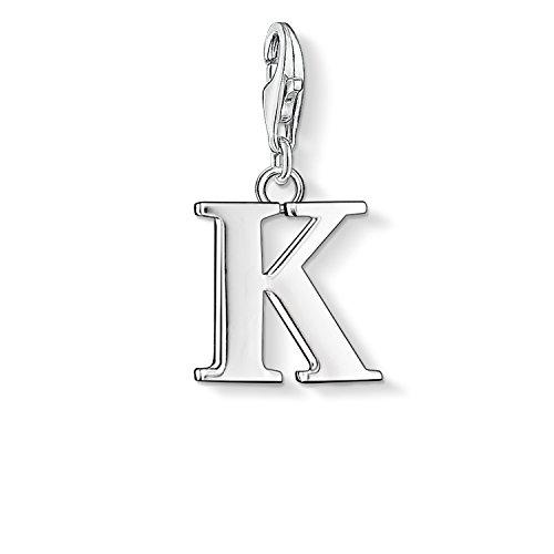 Thomas Sabo Damen-Charm-Anhänger K Buchstabe Charm Club 925 Sterling Silber 0185-001-12 (Charm-buchstabe Gold K)