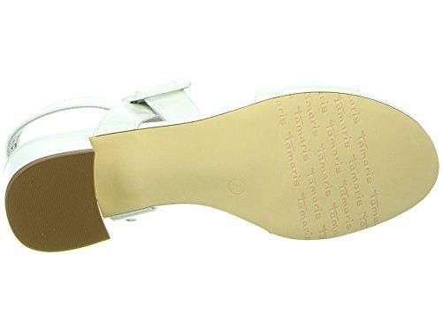 Tamaris1-1-28211-28 - Scarpe con plateau Donna Bianco