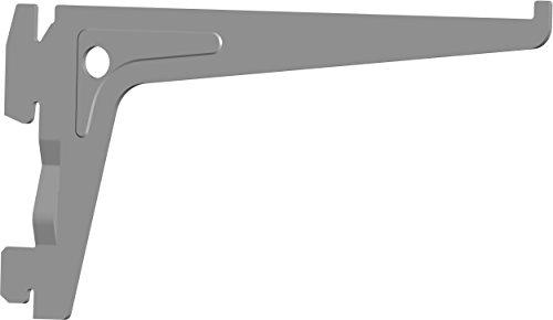 Element System PRO-Träger Regalträger 1-reihig, 2 Stück, 7 Abmessungen, 3 farben, lange 15 cm für Regalsystem, Wandschiene, weißaluminium, 18133-00002