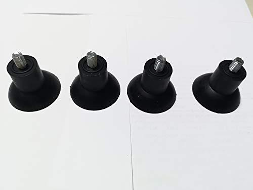 Piedini affettatrice 4pz gomma filetto 6mm altezza 35mm