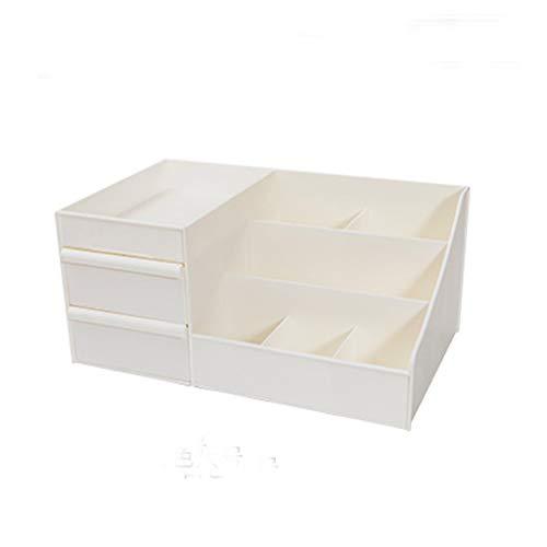 LiKin Cas cosmétique, type de tiroir de rangement cosmétique de bureau de type petite coiffeuse en plastique boîte à bijoux boîte de rangement papeterie divers de stockage