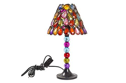 Solo mobili lampada da tavolo con gemme colorate