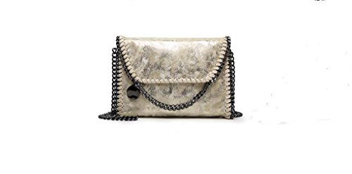 Nuove borse, spalla casuale, messaggero, sacchetto chain champagne