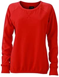 James & Nicholson Women's JN991 Basic Sweatshirt red XL