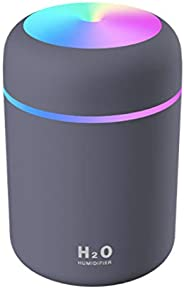 موزع عطور كهربائي مع اضاءة يستخدم في المنزل او السيارة سعة ٣٠٠ ملم مع قفل تلقائي عند الانتهاء - لون زهري وابيض