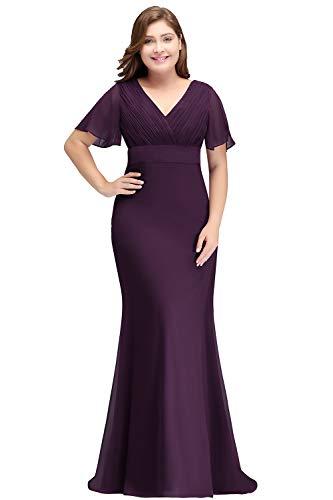 Babyonlinedress Abendkleider elegant für Hochzeit Royal Blau Brautmutterkleider Große Größen