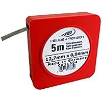 HELIOS-PREISSER Fühlerlehrenband 5 m x 13 mm, inklusive Plastikdose 0,04 mm, 0611504