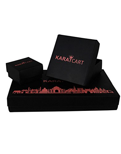 Karatcart Platinum Plated Elegant Austrian Crystal Adjustable Couple Ring