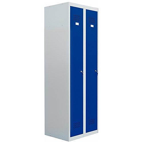 pro-bau-tec Doppelspind Garderobenschrank, blau, 20005