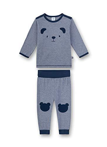 Sanetta Baby-Jungen Pyjama lang Zweiteiliger Schlafanzug, Blau (blau 5193), 80 (Herstellergröße:080)