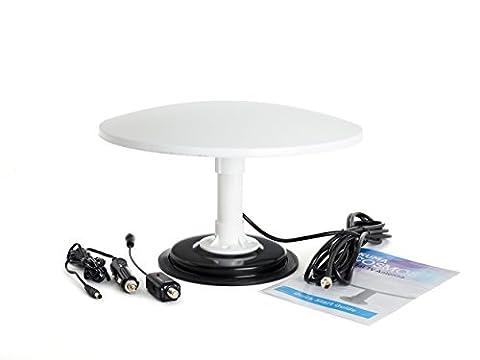 Antenne TV numérique omnidirectionnelle magnétique Kuma Cosmos 12 V / 24 V pour caravane, camping-car, bateau, fourgon, camion, van pour chevaux