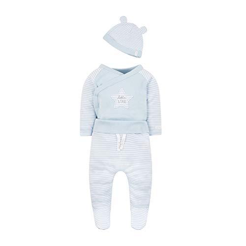 Mothercare Baby-Jungen 3 Piece Set Bekleidungsset, Blau (Pale Blue 23), Neugeborene (Hersteller Größe: 56)