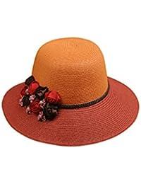Beach Sun Hat Fashion Flower Tide Woman Sun Hat Outdoor Summer Travel Sun Hat Big Along The Sunscreen Soft and comfort