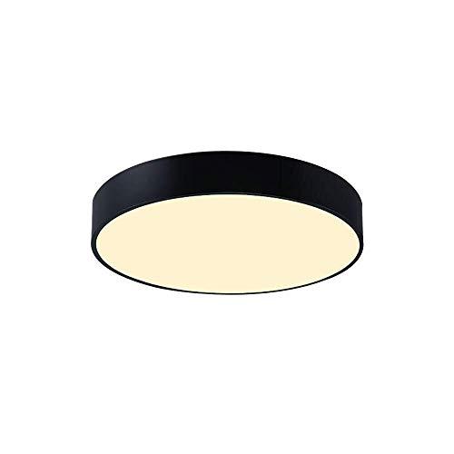 Lzpff Stufenlos Dimming 48 W 40 cm Schwarz Modern einfache Art-Acryl Runde LED-Deckenleuchte for Wohnzimmer Schlafzimmer Esszimmer Single Pack -
