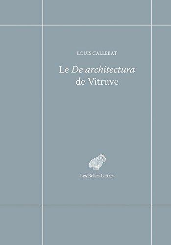Le De architectura de Vitruve