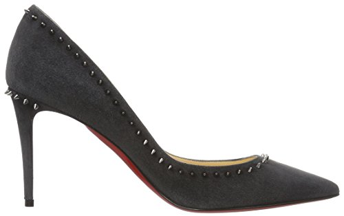Christian Louboutin Damen Calzature Anjalina 85 Shoes Pumps, Mehrfarbig (Fusain/Gun Metal), 37 EU -