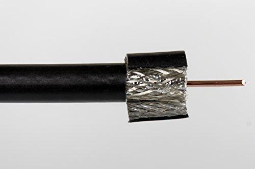 50m BK SAT Hochleistungsantennenkabel 75160AKZ PE A RG-11 - Aussen UV bestaendig Erdkabel - 1,50 Euro / m Isolation Sat-tv