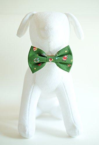 bok bok the Bow Tie Weihnachten & Grün-Hand Genäht Hund Katze Haustier Fliege Fliege Halsband Zubehör (Halsband Nicht im Lieferumfang Enthalten) (groß) Large Grün