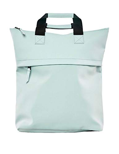 Rains Water-Resistant Tote Backpack Light Blue