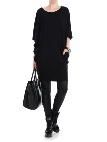 YULIYA BABICH fashion designer -  Vestito  - Tunica - Donna RAL9005 Black (Jet Black)