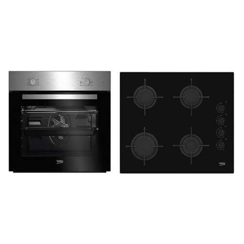 Beko BSE21031CXD - Cocina Integrado, Negro, Acero inoxidable, Giratorio, Front/Top front, Encimera...