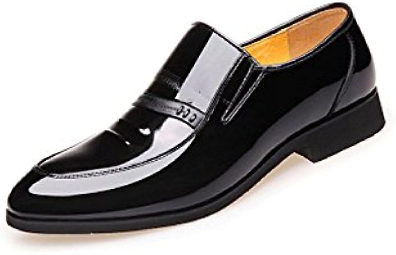 NIUMJ Herren Fruumlhjahr Mode Business Casual Atmungsaktiv Im Freien Rutschfeste Hochzeit Schuhe Lederschuhe