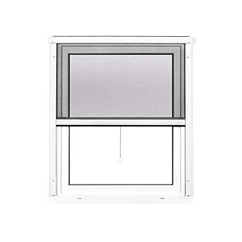 jarolift 4 in 1 Zanzara Insektenschutzrollo Insektenschutz Fenster Alurahmen, 70 x 130 cm (B x H), weiß