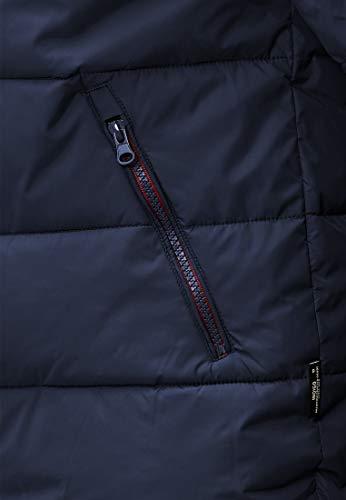Indicode Herren Philpot Steppjacke Übergangsjacke Jacke mit Kapuze Navy S - 6
