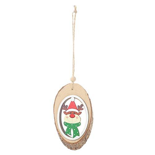 SilenceID Weihnachtsbaum hängen Ornamente Dekoration Holz Christbaumschmuck für Handwerk Weihnachtsfeier Dekorationen Wohnkultur -