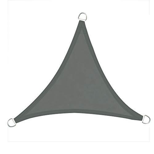 Greenbay Voile d'ombrage Triangulaire | 3.6x3.6x3.6m Anthracite | Une Protection des Rayons UV | Toile d'ombrage Auvent Pare-Soleil de Jardin