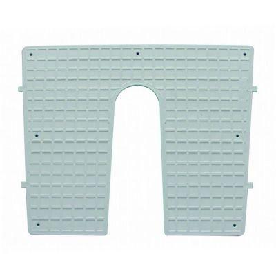 wellenshop Heckschutzplatte Außenborder 450 x 360 mm keilförmig -