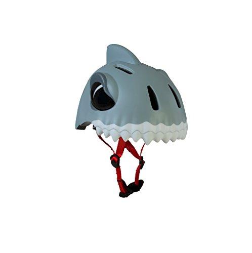 Fahrradhelm für Kinder 'White Shark' von Crazy Safety - Sicherheit kann auch Spaß machen! - Die coolen Fahrradhelme von Crazy Safety - Einfach anzupassen - Größe S:...