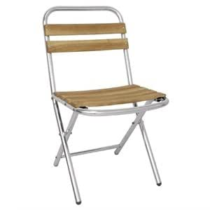 4 X Heavy Duty Ash And Aluminium Folding Chairs Pack Of 4 Commercial Cafe