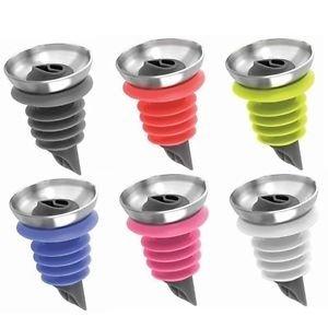 Silikon Sleek Auslauf Flasche Ausgießer, verschiedene Farben, 4Stück