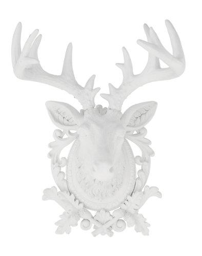 Kare 68818 Objet de décoration polyrésine modèle tête de cerf 68 x 45 x 44 cm (Blanc)