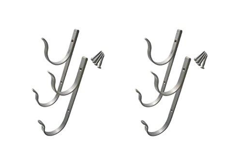 2Stück Schwimmbad Aluminium Pole Kleiderbügel Haken Set mit Schrauben für Polen Pinsel Net