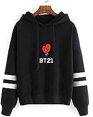 BTS Bangtan Boys BT21 Cartoon Cute Print Long Sleeve Hoodie-S