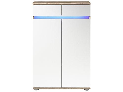 "Kommode Sideboard Anrichte TV-Lowboard Lowboard in inkl. Beleuchtung ""Light"" (Kommode (60039) 69 x 108 x 34 cm) - 2"