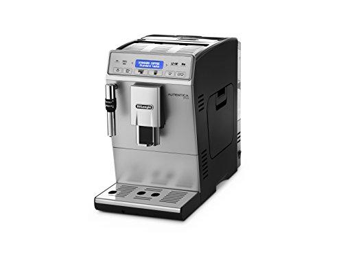 De'Longhi Autentica Plus ETAM29.620.SB - Cafetera Superautomática, 1450 W, muy estrecha, capacidad 1.4 L, pantalla LCD y panel táctil, acero Inoxidable, molinillo silencioso café, plateada