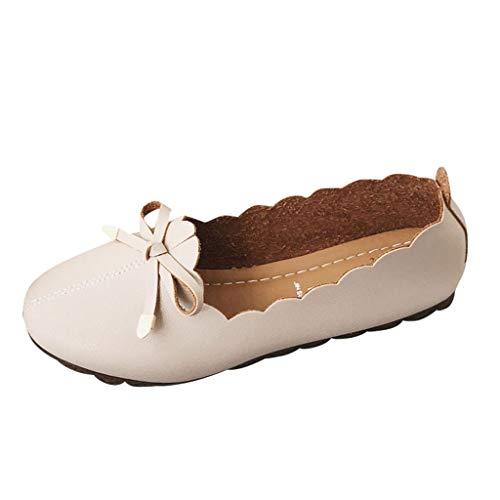 Precioul Damen Leder Loafers Fahren Flache Schuhe Halbschuhe Slippers Erbsenschuhe