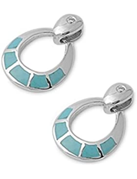 Sterlingsilber-Ohrringe mit Stein