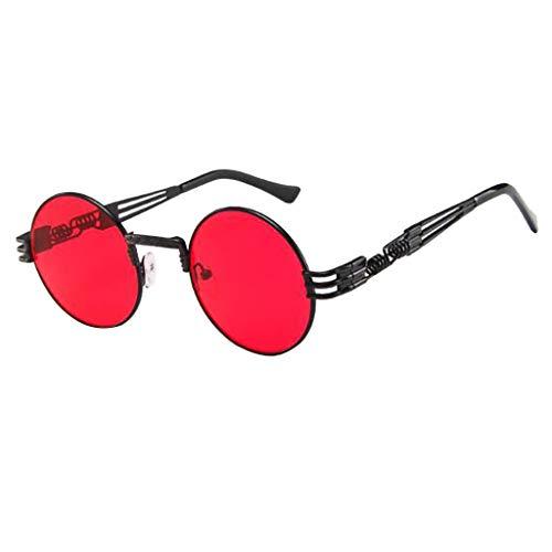 CANDLLY Brillen Damen, Kopfschmuck Zubehör Unisex Jahrgang Metall Flacher Spiegel für Männer und Frauen Persönlichkeit Brillengestell Trend Punk Wind Brillengestells Retro Mode Beiläufig Brille
