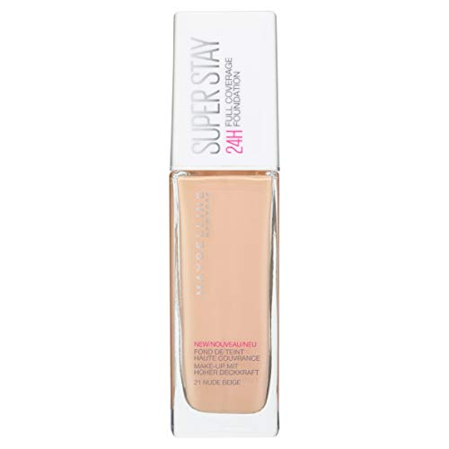 Maybelline New York Base de Maquillaje Superstay 24H (Larga duración), Tono 21 Nude Beige